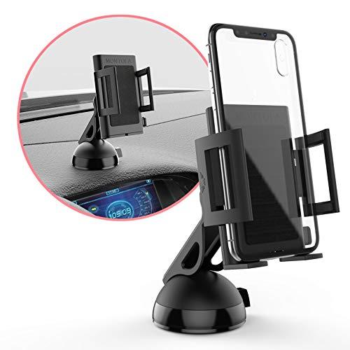 MONTOLA® Universal Handy Autohalterung Smartphone & Navi - kompatibel mit Tomtom Garmin KFZ-Halterung mit Kugelgelenk passend für jedes Auto