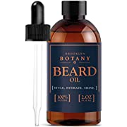 Moroccan Beard Oil & Leave-In Conditioner 2 oz - 100% Pure & Natural, Lightly Scented - with Organic Argan Oil - Brooklyn Botany