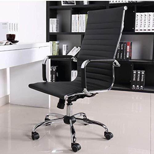 LG Snow High-End-Computer Stuhl Büroarbeitsstuhl Reclining Startseite Hocker Lounge Massage Aufzug Stuhl Leder Schreibtisch Sitz Meeting (Schwarz) (Color : Black)