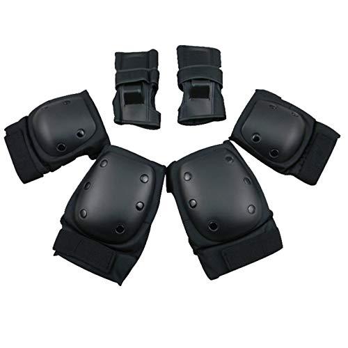 LXF JIAJU 6 Unids/Set Skateboard Pating Pads Knee Codel Pads Guardias De Muñeca Protector De Seguridad Deportivo Al Aire Libre (Color : HC 620, Size : XL(80kg 95kg))