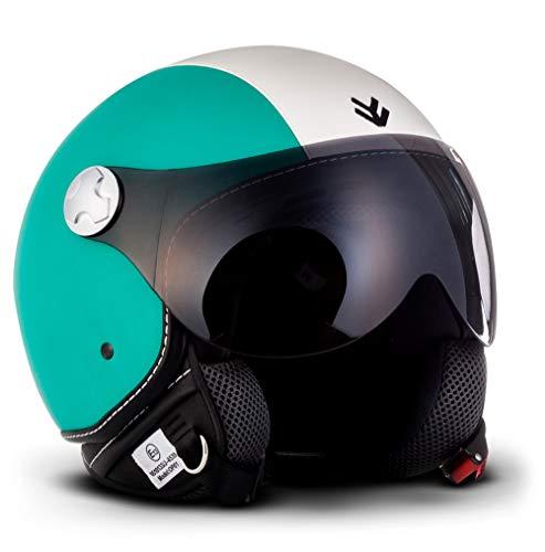 ARMOR Helmets AV-84 Casco Moto Demi Jet, Multicolor/Vintage Italy, L (59-60cm)