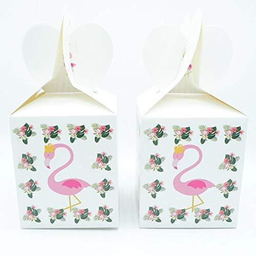 Flamingo Set di stoviglie usa e getta Tovagliolo piatto di carta Tovaglioli di paglia Tavola da tavola per decorazioni di nozze Forniture per feste di compleanno, scatola Cnady