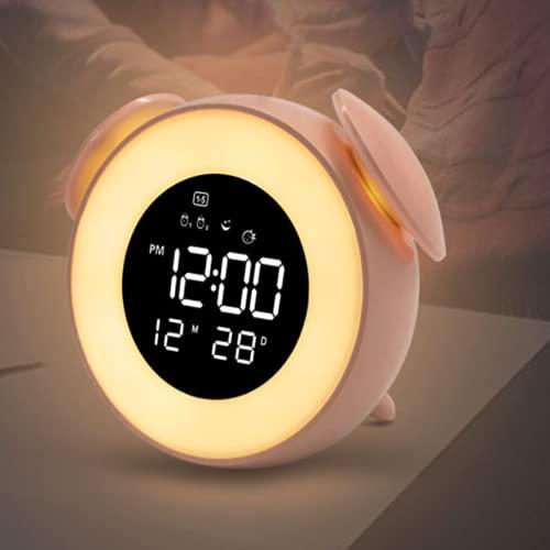 QIANJINGCQ Despertador con luz Despertador Despertador Luminoso Despertador guarro Despertador Lindo para Mascotas Despertador Infantil Despertador Digital