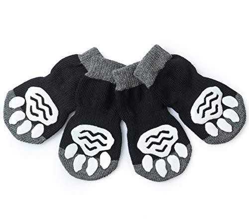 Pet Heroic 8 tamaños Calcetines antideslizantes para perros gatos, Protectores de patas para perros gatos, control de tracción para el uso en interiores, ajuste para perros extra pequeños a grandes 🔥