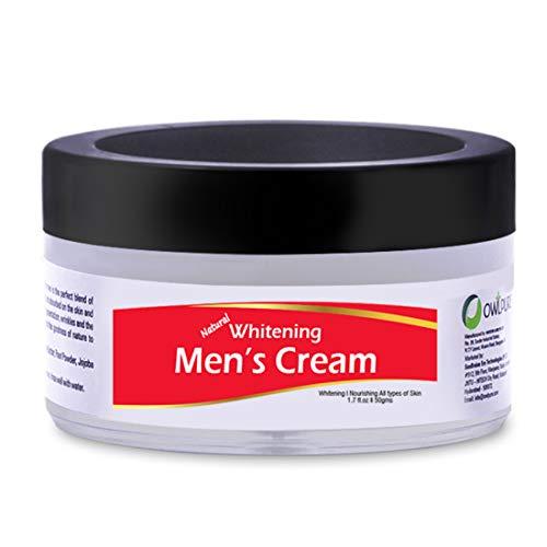 Owlpure 100% Natural, Organic & Handmade Men's Fairness Whitening Cream For Face, Skin & Body (50 Gms)