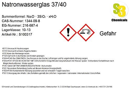 S3 Chemicals Natronwasserglas 37/40 Gebindegröße 25kg