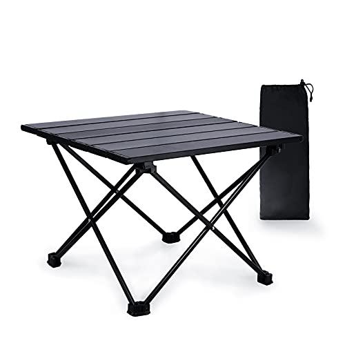 mreechan Mesa de Camping, Mesa de Camping Plegable de Aluminio Liviana portátil con Bolsa de...