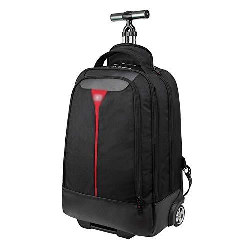 GQY Luggage - cloth suitcase light wheeled luggage bag large capacity (Color : Black, Size : 50 * 35 * 21cm)