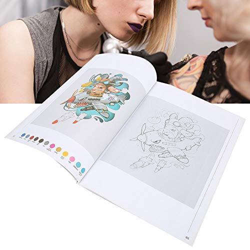 Ensemble de modèles de tatouage, pochoirs de tatouages, ensemble de modèles de tatouage réutilisable, 111 pages Liner Shader motif animal mignon tatouage livre tatouage pratique modèle livre