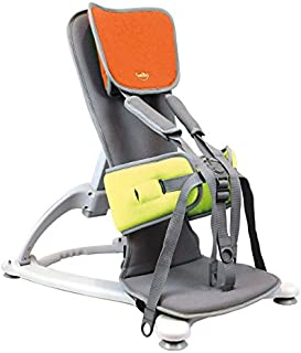 Firefly by Leckey GoTo Postural Support Seat - Lightweight Portable Supportive Seat for Children with Special Needs – Floorsitter and Standard Headrest - Orange, Size 2