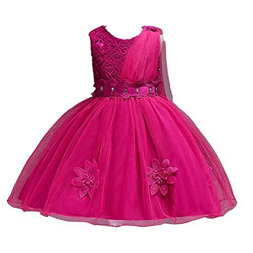 MSemis Vestido Princesa de Fiesta para Niña Vestido Elegante Flores de Cumpleaños...