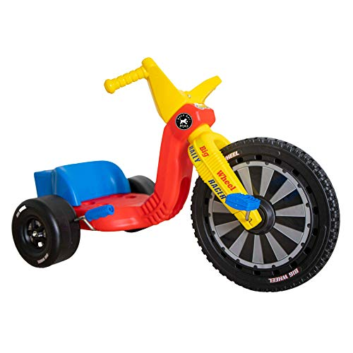 The Original Big Wheel 16 Inch Tricycle - Big Wheel for Kids 3-8 Boys Girls Outdoor Kids Toys Drift Trike with Spin Out Hand Brake - Rally Racer