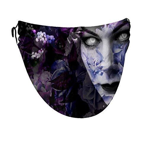 lymknumb Flores con la cara La bruja malvada cubre el parabrisas adulto a prueba de polvo y suciedad para hombres y mujeres con ajustable