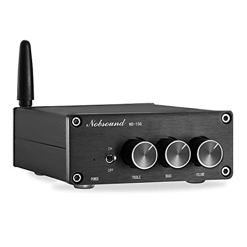 Nobsound Mini 200W (100W×2) Bluetooth 5.0 TPA3116 Digital Amplifier HiFi Stereo Class D Power Amp Verstärker with Power Supply (NS-15G)