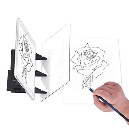 HuiDao Tablero de dibujo óptico herramienta de dibujo acrílico para bocetos, asistente para bocetos, tablero de dibujo, tablero de...
