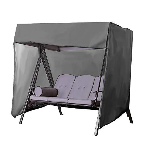 3 Seater Patio Balancez Couverture, hamac Planeur Covers - 210D Oxford Tissu Eau/antipoussière Four Seasons Universal Sunscreen - pour Mobilier de Jardin