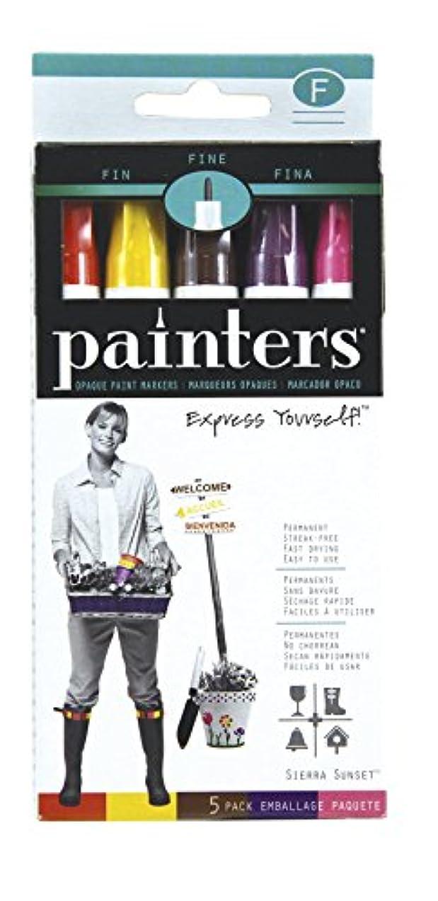 Elmer's Painters Opaque Paint Markers, Fine Point, Sierra Sunset Colors, 5 Count