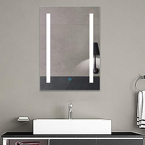 Xinyang LED Badspiegel 50×70 cm Touch beschlagfrei Kaltweiß Badezimmerspiegel mit Beleuchtung Wandspiegel