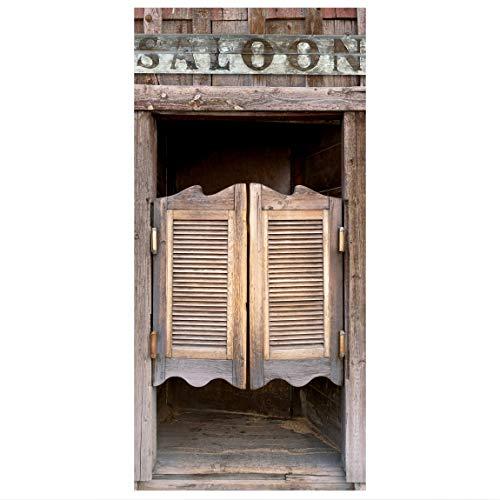 Raumteiler Wild West Saloon 250x120cm inkl. transparenter Halterung