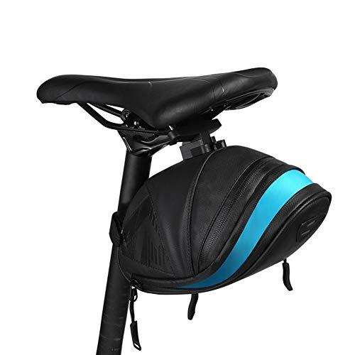 Práctica moda Mountain Road Ciclismo bicicleta atrás parte trasera asiento bolsa bolsa de sillín de bicicleta bolsa pannier saco Wedge Pack (Size: S)