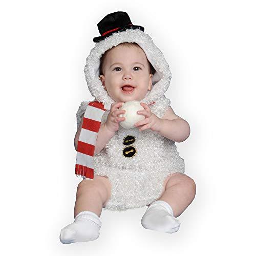 Dress Up America Traje Adorable del Hombre de la Nieve del bebé