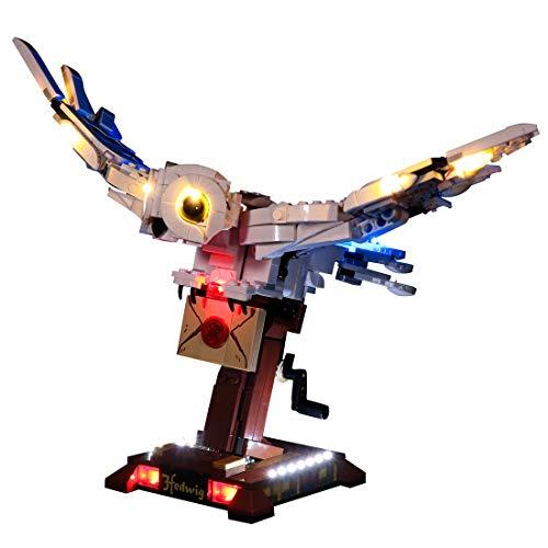 LYCH Juego de iluminación LED para LEGO Harry Potter Hedwig con alas móviles, compatible con LEGO 75979, sin set Lego
