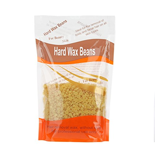 bonjanvye Hard Wax Beans and Wooden Hair Removal Wax Kit Hard Wax Kit 300 g, miel, 14.5(L)*5(W)*23.5(H)cm