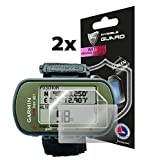 IPG Compatible with Anti - Glare Garmin Foretrex 401 Hiking GPS (2X) (1 Clear & 1 Anti-Glare Protector) Invisible Film Screen Protector Guard Cover Free Bubble -Free