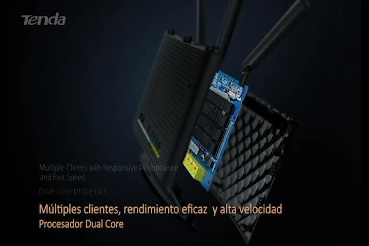 Tenda AC15 - Router WiFi Dual, color negro
