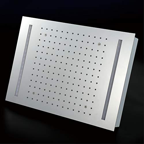 Soffione doccia a LED con soffione da incasso Soffioni doccia a pioggia da incasso a soffitto 16 colori Incasso Top 304SUS