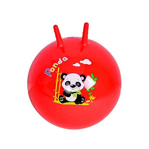 HZBTOY Kindersprungball Kindergartenmassageball Spielzeug for draußen Aufblasbarer Kinderball (Color : Red, Size : 40CM)