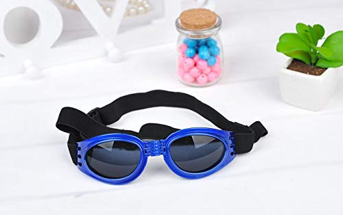 DuZhome Dog Glasses-Fashion Dog Sunglasses Cool pet Dog Accessories Adjustable Glasses for French Bulldogs Medium Big Dog Waterproof Goggles 20s4