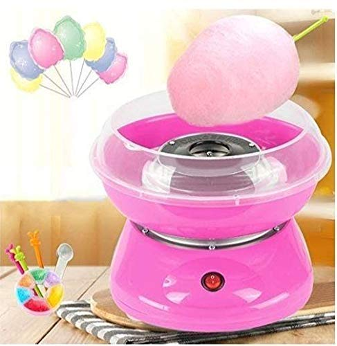 HAPYSA Electric Cotton Candy Machine Sugar Floss Maker Machine - With 10 Candy Cones & Scooper, Make Hygienic Cotton Candy for Your Kids at Home (Multi Color)