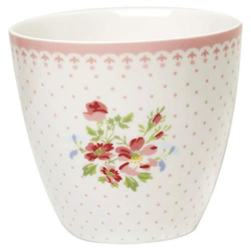 GreenGate Kaffeebecher Kaffeetasse Latte Cup Becher Sinja White Sonderedition H 9 cm 300 ml