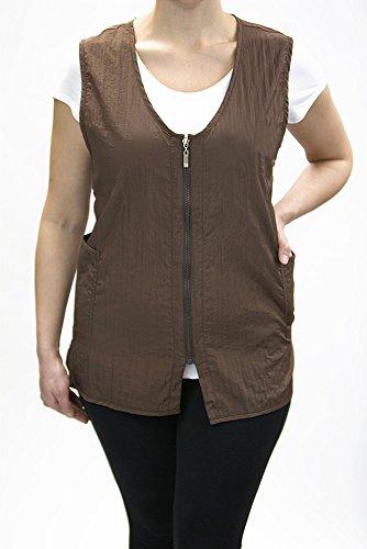 Long Zipper Stylist Vest with Pockets by Charlene (3X-Large, Black)