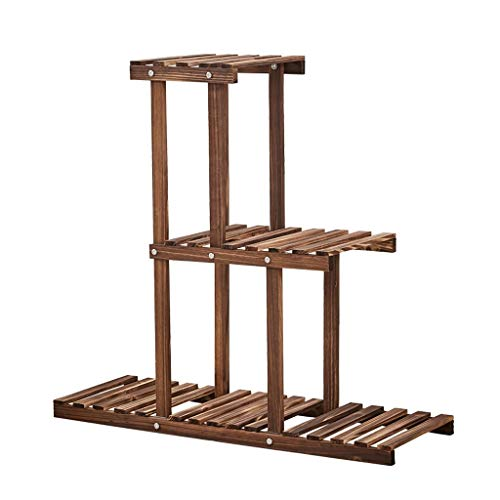GF Support de Fleurs Balcon Simple au Sol en Bois Support de Pot de Fleurs Support de Vent Multicouche Rural Vent, 81x26x75cm Home (Size : 81x26x75cm)