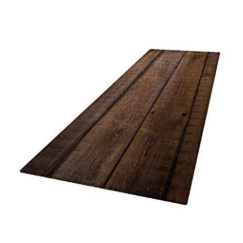F Fityle Küchenteppich Läufer waschbar rutschfest Teppichläufer Küchenläufer für Flur, Wohnzimmer, Küche, Schlafzimmer - Holz