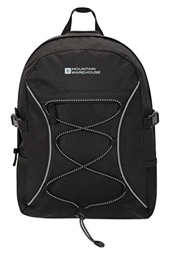 Mountain Warehouse Bolt 18L Backpack - Ripstop Rucksack, Compression Straps Bag - For Travelling Black