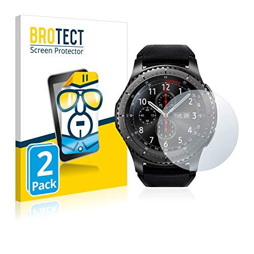 brotect Pellicola Protettiva Compatibile con Samsung Gear S3 Frontier / S3 Classic Pellicola Trasparente (2 Pezzi) Anti-Impronte