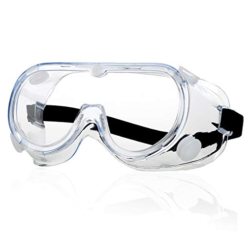 Schutzbrille - Anti Nebel Klar Augenschutz Brille Workshops Labor Baustellen Anti-Speichel Anti-Spucken Geschlossene Staubdichte Schutzbrille für Brillenträger