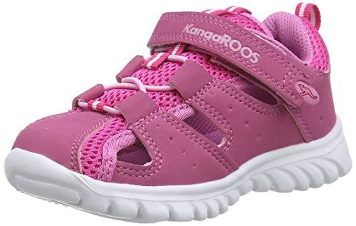 KangaROOS Rock lite Unisex Baby Sneaker, Pink (lillipilli/begonia 660), 25 EU