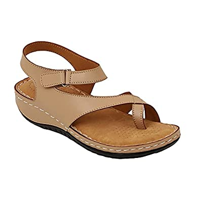 YAHE PU Leather Doctor Sole Orthopedic Sandals for Womens|Girls|Ladies Y-511