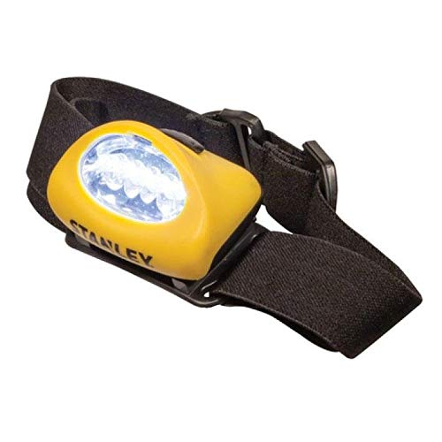 STANLEY HL2PKS - Lampe de poche à DEL mains libres avec serre-tête ajustable, lot de 2 (3 x AAA incluses)