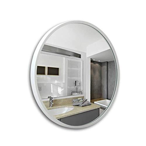 FGVBC Espejo de Pared Redondo con Marco de Abedul, decoración de habitación Moderna Montaje en Pared Simple y Elegante para entradas, baños, Salas de Estar (tamaño: 80 cm x 80 cm)