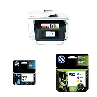 HP OfficeJet Pro 8720 Inkjet Printer and Standard Ink Bundle