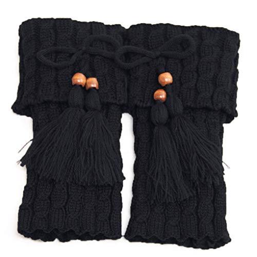 wanzhaofeng 1 Paar gestrickte Beinwärmer Manschetten Stiefel Frauen Crochet Stiefel Stulpen Beinwärmer Frau Boho Stiefel Socken Lady Winterstiefel