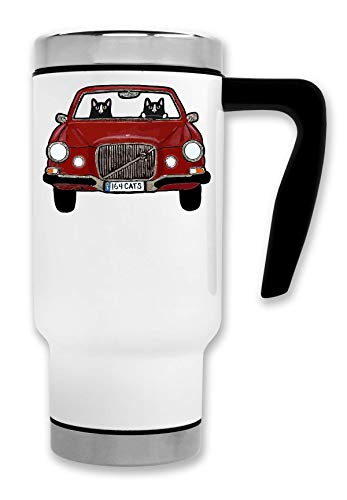 Swedish Car Cats Thermische Reise-Kaffee-Tee-Tasse