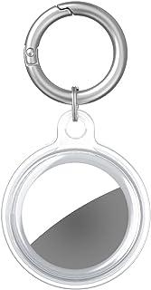 ProElife Beschermhoes volledige bescherming met sleutelhanger voor Airtags Apple 2021, Soft-touch TPU Transparante Protect...