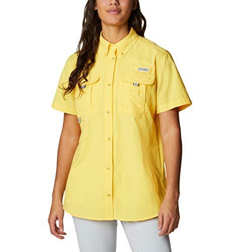 Columbia PFG Bahama II - Camiseta de Manga Corta para Mujer, Transpirable, protección UV, Brillo Solar, Talla Grande