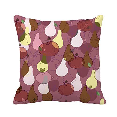 N\A Throw Pillow Cover Blue Wall Teal Fleur De lis Ceramic Funda de Almohada marrón clásica Funda de Almohada Cuadrada Decorativa para el hogar Funda de cojín